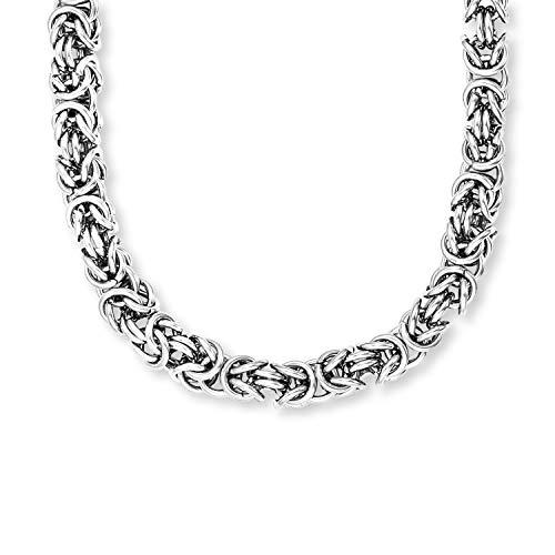 SAVE BRAVE® Königskette Silber Edelstahl für Männer, Männer Herren Halskette 55cm für Anhänger, Edelstahl Gliederkette, poliert für junge Männer, Geschenkidee für den Mann.
