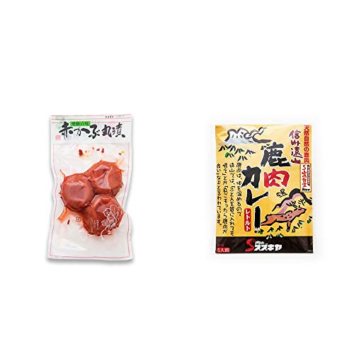 [2点セット] 赤かぶ丸漬け(150g)・信州遠山 鹿肉カレー 中辛 (1食分)