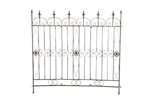 CLP Eisen-Gartenzaun Mangold I Individuell erweiterbarer Rankzaun I Rankgitter im Landhausstil I erhältlich, Farbe:Bronze