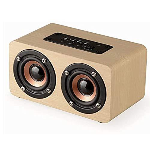 HBBOOI Handgemacht Walnußholz Tragbar Bluetooth Lautsprecher Box, Bluetooth 4.0 Drahtloser Lautsprecher Mit Radio FM/AM, Natur Holz Bluetooth Lautsprechers Mit Bass Und Subwoofer