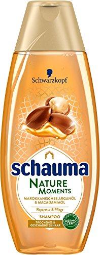 Schwarzkopf Schauma Nature Moments Shampoo, Marokkanisches Arganöl und Macadamiaöl, 5er Pack (5 x 400 ml)