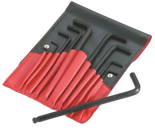 SAM Outillage 62-TR10 Jeu de 10 clés males courtes 6 pans de 3 à 19 mm en trousse
