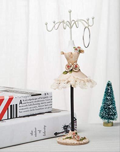 qwess Ohrringe Regal Display Rack Halskette Kleiderbügel Schmuck Aufbewahrung Schmuck Höhe 25 * Breite 7,5 cm Champagner 2