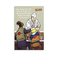 アニメナルトポスターキャンバスアートポスターとウォールアート写真プリントモダンファミリー寝室寮装飾ポスター16×24インチ(40×60cm)