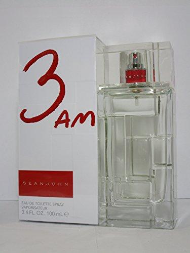 SEAN JOHN 3AM Eau De Toilette Spray FOR MEN 3.4 Oz / 100 ml. BRAND NEW ITEM IN BOX SEALED