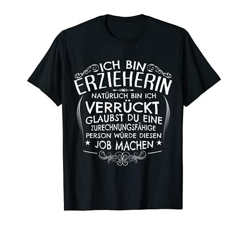 """Educador regalo loco profesor divertido con frase en alemán """"Witz für Women"""". Camiseta"""