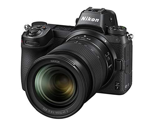 Nikon Z7 + NIKKOR Z 24-70 f 4 S + FTZAdattatore Fotocamera Mirrorless Full Frame, CMOS FX da 45.7 MP, 493 Punti AF, Mirino OLED da 3.686k, Video 4K, LCD 3.2 , Nero [Nital Card: 4 Anni di Garanzia]