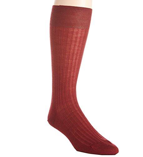 Pantherella Weinrote Laburnum 5x3 Rippung Socken aus Merinowolle in verschiedenen Größen (M - 42/44)