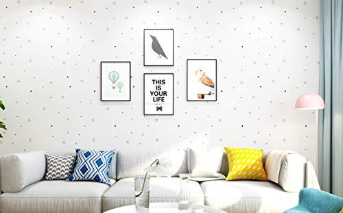 Papel pintado autoadhesivo dormitorio habitación cálida decoración de la pared pegatina pared de fondo 60 CM * 10 M A