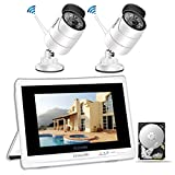 <span class='highlight'><span class='highlight'>YESKAMO</span></span> Wireless CCTV Camera Systems Outdoor 2 pcs 1080P Home CCTV Security System with 12'' Full HD IPS Screen,4CH NVR Monitor Video Surveillance Kits with 1TB HDD,Plug&Play Remote Monitoring