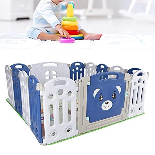 GOTOTOP Valla para Actividades para Bebés, Parque Infantil Plegable, con 14 Paneles...