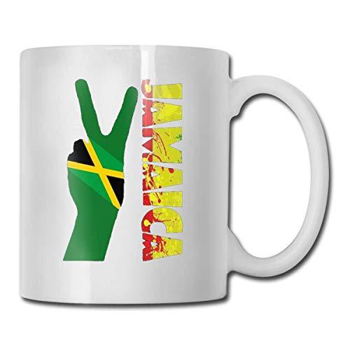 Jamaikanischer Frieden Jamaika Flagge Reggae Splash Neuheit Tasse Kaffeetasse Für Männer Frauen Büroarbeit Erwachsener Humor Angestellter Chef Mitarbeiter