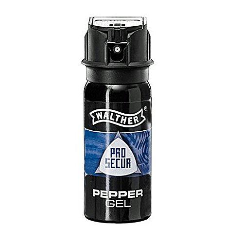 Walther Pfefferspray Abwehrsprays ProSecur Pepper Gel 50 ml-ballistischer Strahl, Mehrfarbig