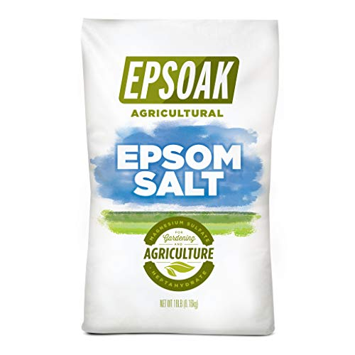 Epsoak Epsom Salt - 18 lb. Resealable Bulk Bag Agricultural Grade Epsom Salt for Gardening and Lawn Care