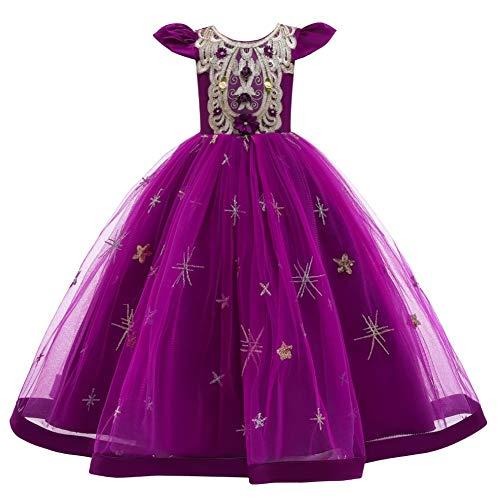 WOCINL Flores Niñas Apliques Vestido De Tul Manga Casquillo Princesa Cumpleaños Boda...