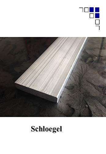 Alumium Flachmaterial 50x2mm Alu Flach Abdeckleisten Bodenleisten (3 Stück 2000mm)