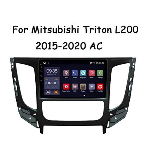 9 Zoll Autoradio GPS Navigation Android 9.0 Kapazitive Display Autoradio, Für Mitsubishi Triton L200 2015-2020 AC Unterstützung Bluetooth/Lenkradsteuerung (Enthalten Kamera),Canbus,Wifi 2G+32G