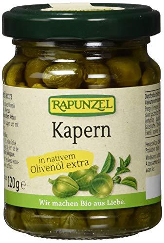Rapunzel Kapern in Olivenöl, 1er Pack (1 x 120 g) - Bio