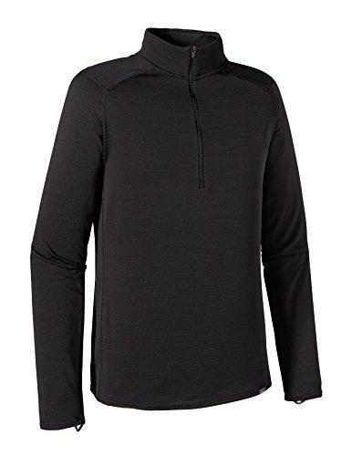 Patagonia Cap TW Zip Neck T-Shirt, Homme L Noir