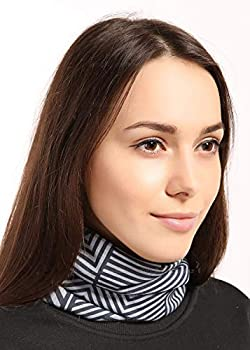 Womens Neck Warmer - Winter Fleece Neck Gaiter Ski Tube Scarf - Cold Weather Face Mask Cover for Thermal Retention