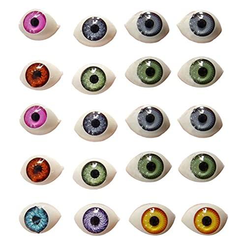 Halloween Eyeballs Scary Realistic Eyes Acrilico Tipo di Barca Acrilico Craft Eyeballs Puntelli Maschera Horror Doll Occhi per La Decorazione Spettrale del Partito di Halloween