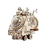 Cajas Musicales Caja de música La caja de música de madera 3D Rompecabezas-kits de edificio modelo de bricolaje Juguetes Montado cajas musicales por las muchachas de los adultos DIY los amantes del re