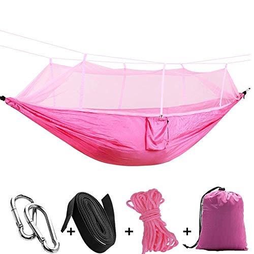 KAIGE Hamacs Camping en Plein air Swing Simple Parachute en Tissu avec moustiquaire Convient for Jardin Voyage Camping WKY