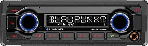 Blaupunkt Durban 224 DAB BT | 1-DIN, DAB+, Bluetooth-Freisprecheinrichtung, 24 V, Heavy Duty Design, Kurze Einbautiefe