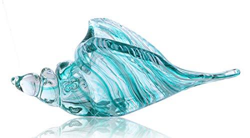 QF Hand Blown Glass Conch Seashell Figurine Home Decor Art Glass Sculpture of Conch