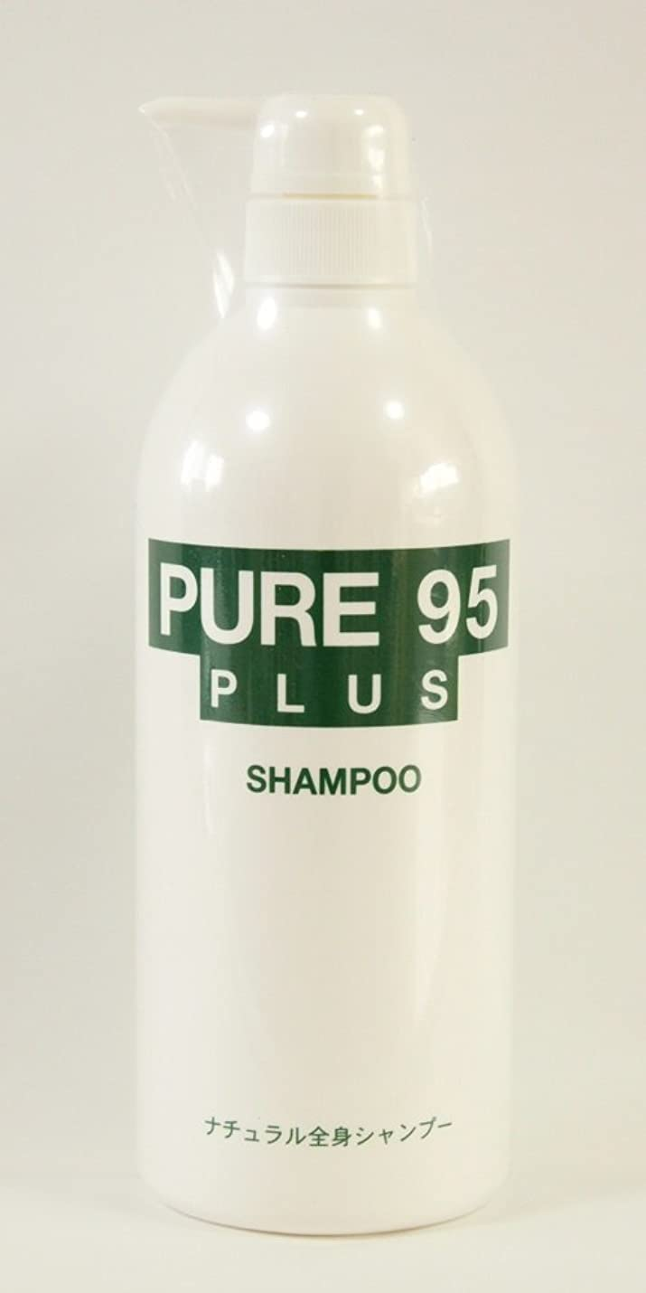 晴れ分子混合したパーミングジャパン PURE95(ピュア95) プラスシャンプー 800ml (草原の香り) ポンプボトル入り