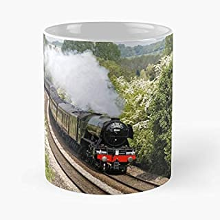 A3 Class 60103 Flying Scotsman Steam Locomotive Uk United Kingdom The Best Gift For Holidays Coffee Mugs