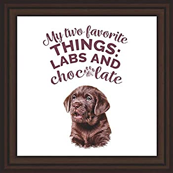Labrador Retriever Lover Gifts   Dog Lovers Presents   Chocolate Lab Picture Frame for Home Decoration   Black Lab Wall Art   Golden Labrador Keepsake Ornament   Lab Owner Gift for Office Decor