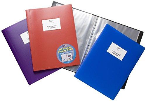 호랑이 A4 FLEXICOVER 60 포켓 디스플레이 책 프레 젠 테이션 폴더 - 유연한 커버