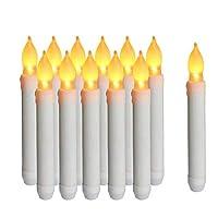 Dimensioni : 0,79 pollici (2 cm) P x 6,5 pollici (16,5 cm) H. La confezione include 12 candele coniche. Ogni candela a lume di tè a LED è accuratamente e rigorosamente testata. Un singolo LED in ogni cono fornisce luce calda ma intensa (giallo ambra)...