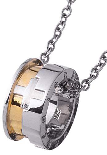 [アルテミスキングス]Artemis Kings クロスホイール チャーム チェーン付き リング ゴールド シンプル ネックレス