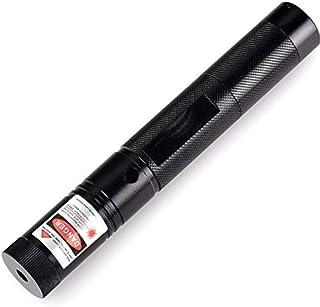 قلم مؤشر ليزر احمر 650 نانومتر بشعاع مرئي لمسافة 10 ميل + شاحن بطارية بمقبس يناسب المملكة المتحدة 18650