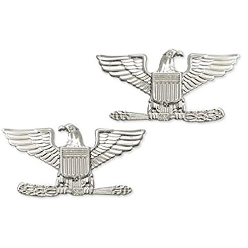 US Air Force Brite Metal Officer Rank (O6 Colonel)