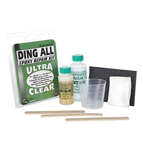 Ding All Epoxy - Kit de reparación para tablas de surf, transparente