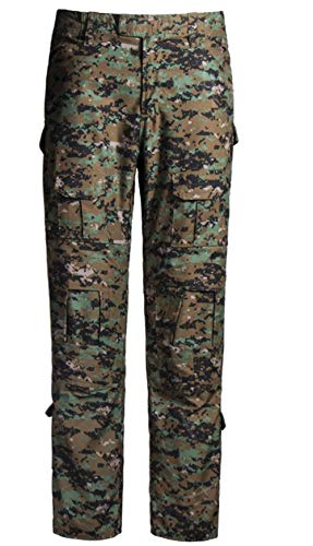 QCHENG Taktisches Hose Airsoft Männer schießen BDU Combat Camouflage Camo Kampf Tactical Military Paintball Uniform Armee Digitaler Dschungel XL