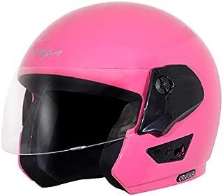 Vega Cruiser Open Face Helmet (Pink, Medium)