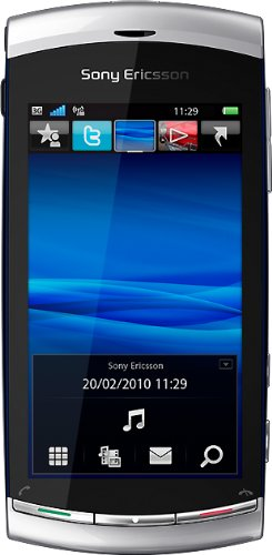 Sony Ericsson Vivaz Classic Smartphone (8,1 cm (3,2 Zoll) Display, Touchscreen, 8,1 Megapixel Kamera) Silber
