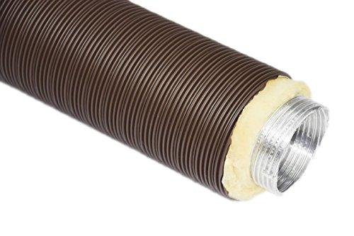 Alu-Flex-Rohr ISOLIERT Thermoflex BRAUN 0,8 m, DN 80
