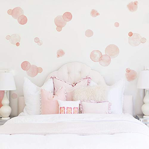 Watercolor Dot Wall Stickers for Kids Rooms Colorful Cartoon Creative Stickers Room Decoration DIY Children Nursery Wall Decals