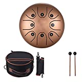 Ethereale Trommel 8-Zoll-Kompakter 8-Ton-Stahlzunge-Trommel C-Tasten Percussion Handtrommel Und...