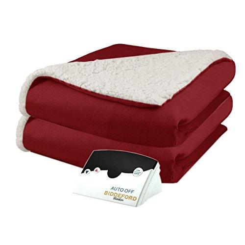 Biddeford 6001-9051136-300 Micro Mink and Sherpa Electric Heated Blanket Full Brick