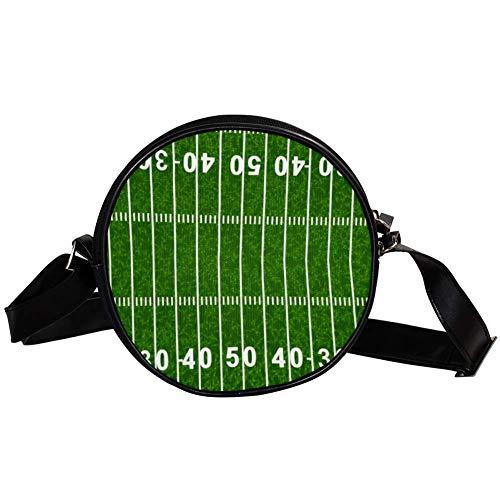 Bennigiry American Football Field Damen Umhängetasche Umhängetasche Top Handtasche