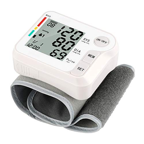Wrist Blood Pressure Cuff Monitor, potulas Digital Automatic BP Machine with Portable Carrying Case for Home Use, Batteries Included