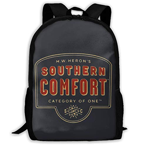 Southern Comfort Whiskey Printed School Backpack Water Resistant Travel Rucksack Bag Laptop Lightweight Backpack Daypack,17