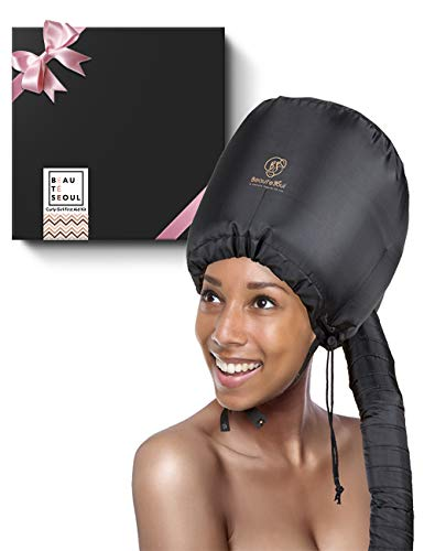 Beaute Seoul 2021 Soft Bonnet Hood Hair Dryer Attachment-Dry Damaged Hair Repair Treatment Gift Set |Professional Curly Hair Products home care kit | Reduce Blow Dry Time,Styling,Curling,Heat Protectant Methods