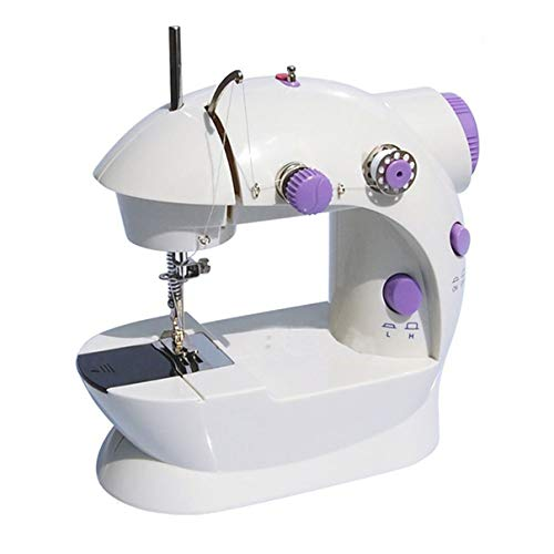 Fantastic Deal! Milisten Mini Sewing Machine with LED Light Portable Electric Crafting Mending Machi...